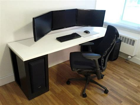 Office Desk Setup Ideas Info At Http Bit Ly Battlestation Cable Management
