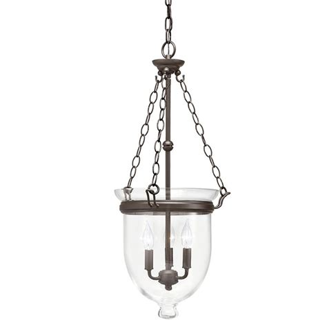 Lowes Pendant Light Shades Shop Kichler Lighting Belleville 15 51 In W Olde Bronze Pendant Light With Clear Shade At Lowes