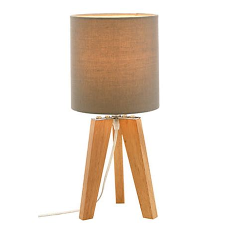 Grey Wood Flooring Pictures by Small Tripod Lamp Light Wood With Grey Shade