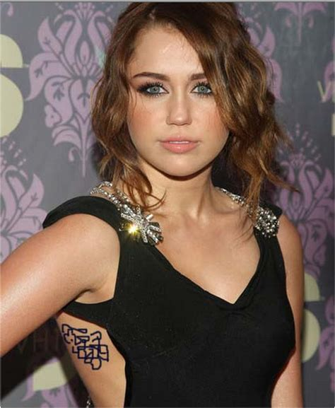 miley cyrus s tattoos miley cyrus tattoos