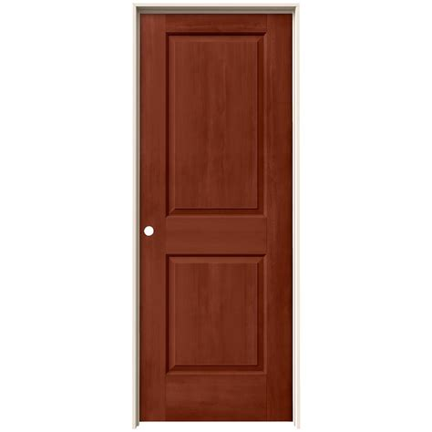 Home Depot Jeld Wen Interior Doors by Jeld Wen 30 In X 80 In Cambridge Amaretto Stain Right