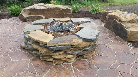 Flagstone Firepit Gallery The Rock Place