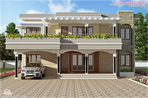 kerala home design thrissur modern flat roof villa in 2900 sq feet house design plans