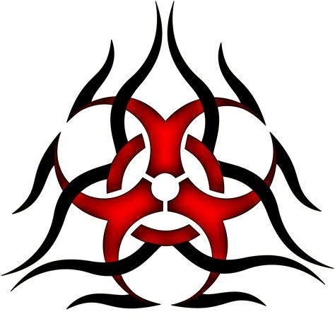 biohazard tribal tattoo cool biohazard symbols clipart best