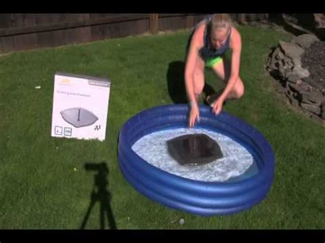 floating solar lights for fountains floating solar water fountain kit youtube