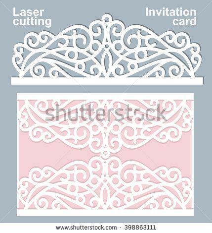 Laser Cut Cards Template by Vector Die Laser Cut Wedding Card Template Wedding