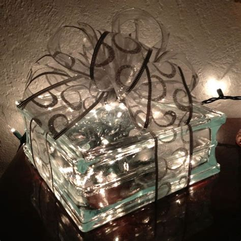 how to make glass blocks with lights christmas decor purchased glass block with hole in it at