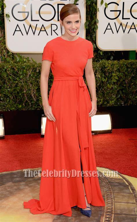 emma watson red carpet dresses emma watson red backless prom dress 2014 golden globe