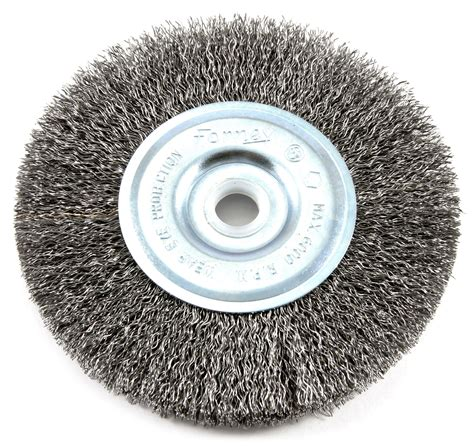 10 inch bench grinder wire wheel 1 arbor forney wire wheel brush coarse crimped with 1 2 inch