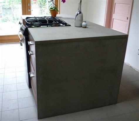 kohler sinks portland oregon monolithic concrete kitchen island from coulee concrete