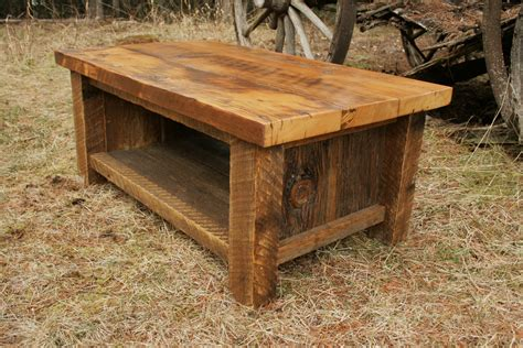 Rustic Barnwood Coffee Table Reclaimed Barnwood Coffee Table