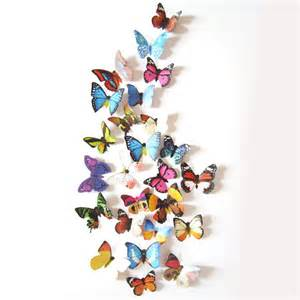 24 pcs 3d butterfly wall stickers art decal home room cute diy 3d butterfly wall stickers decals wall sticker