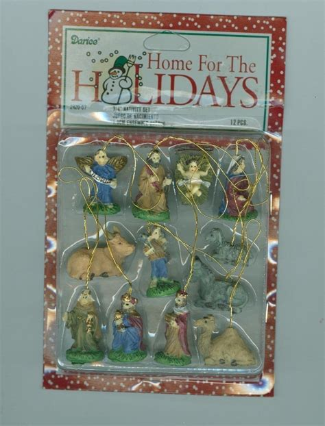 miniature nativity christmas ornaments set of 12 other