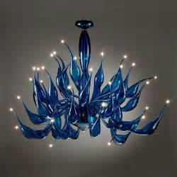 ceiling lights adelaide murano glass cobalt blue tentacoli chandleier modern