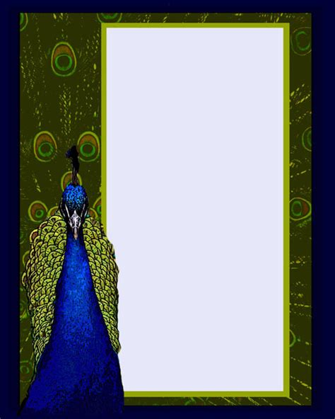 peacock template peacock invitation template free stock photo