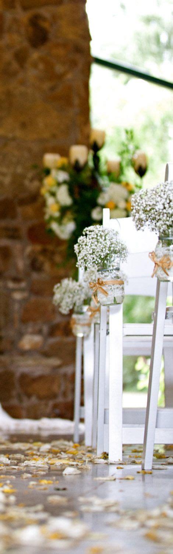 Jar Vases For Wedding by Set Of 12 Vintage Inspired Jar Vases For Wedding Ceremony Aisle Vintage Rustic Wedding