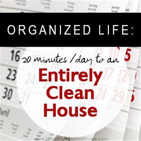 cleaning your house clean your house in only 20 minutes a day