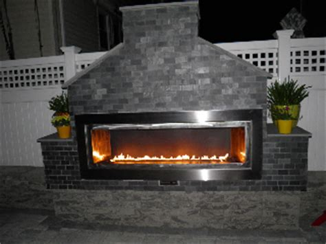 linear outdoor gas fireplace island new york fiamma linear outdoor unit