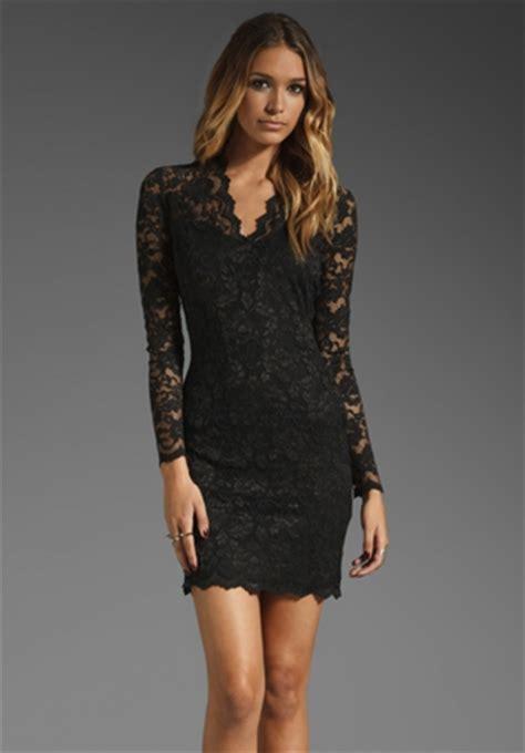 Verinda Flowery Bodycon Mini Dress black flowery lace v neck sleeve bodycon dress lace