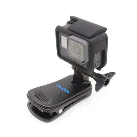 Gopro 5 4 360 Release Backpack Clip Cl Mount telesin 360 degree rotary backpack clip hat cl stand mount rec mounts fast hat clip mount for