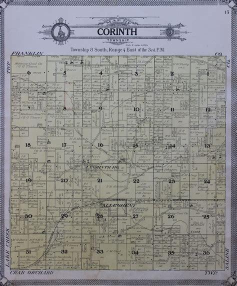 Williamson County Illinois Court Records 1908 County And Township Maps Williamson County Illinois