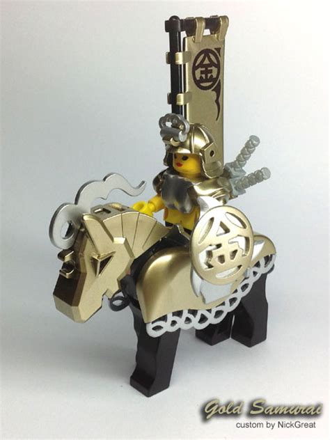 gold samurai a lego 174 creation by nickgreat mocpages