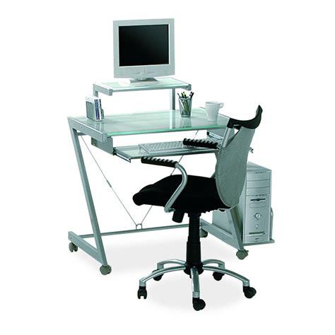 porta pc in vetro scrivania in vetro struttura alluminio porta pc mdm