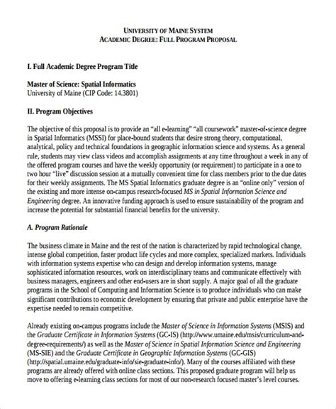 academic proposals layout sle academic proposal template 12 free documents