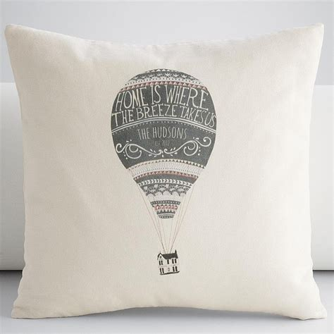 personalized air balloon throw pillow cover