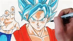 draw son goku super sayajin blue
