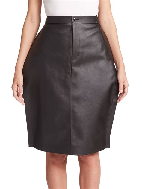 junya watanabe faux leather skirt in black lyst