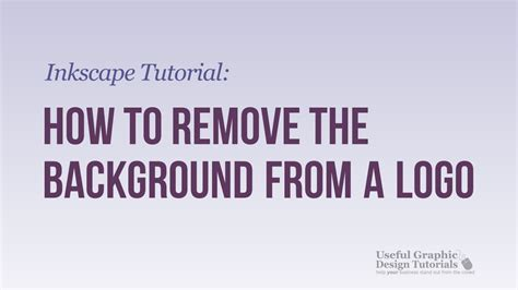 inkscape tutorial remove background how to remove the background from a logo inkscape