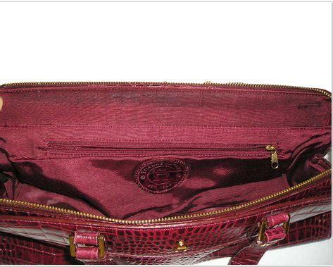 Tas Aigner Original Aigner Bag Maroon Maron vintage etienne aigner burgundy alligator embossed leather barrel handbag purse