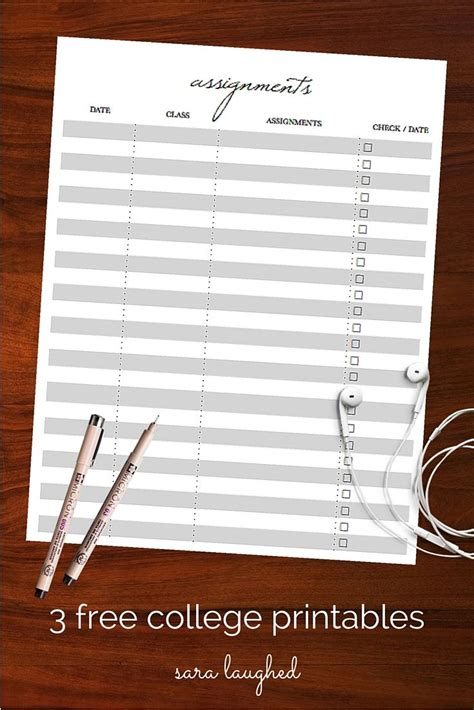 free printable planner supplies best 25 assignment sheet ideas on pinterest school