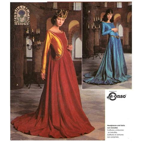 pattern medieval dress medieval wedding dress or historical costume or halloween
