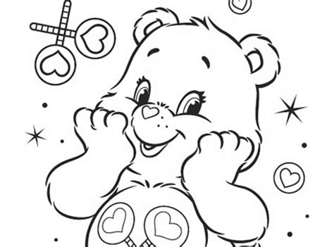 share bear coloring pages share bear cares care bears activity ag kidzone