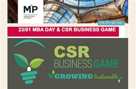 Mba And Csr by Csr At The Of The Mba Day Growingleader