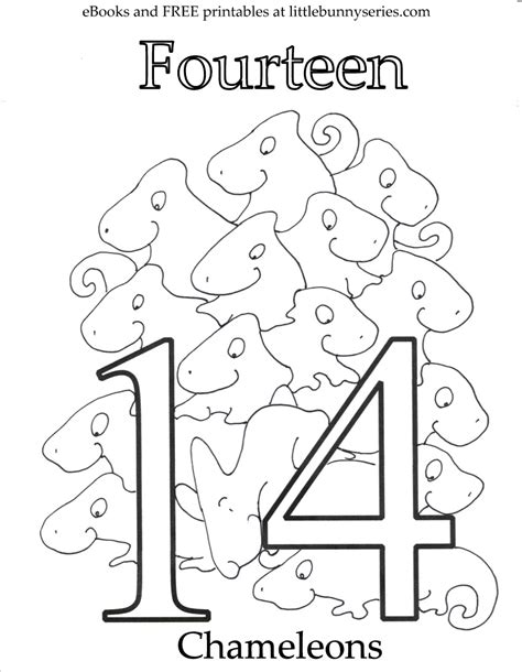 coloring pages of the number 14 coloring pages little bunny series