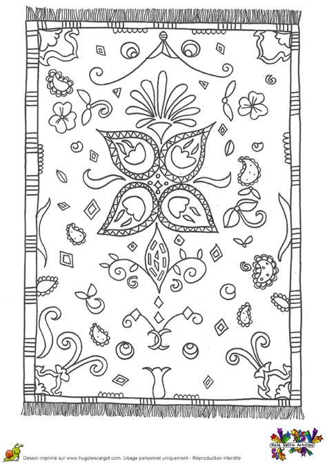 Coloriage tapis motifs turquie sur Hugolescargot.com