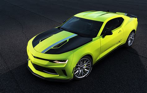 chevy camaro concept chevy reveals pair of camaro concepts at 2016 sema show