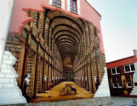 Library Wall Mural 40 examples of street art and murals about books