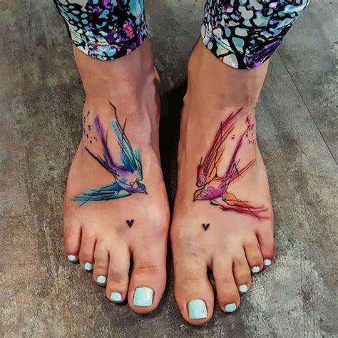 matching foot tattoos sketchy style matching tattoos on both foot