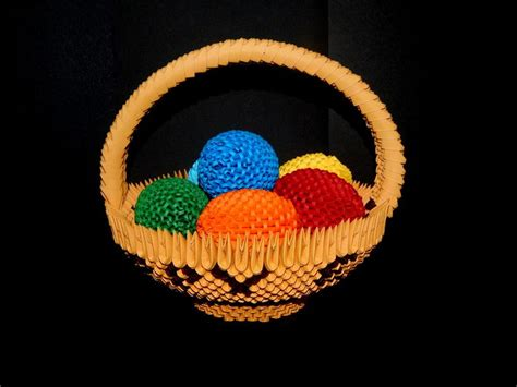 3d Origami Basket Tutorial - 1000 images about my 3d origami collection on