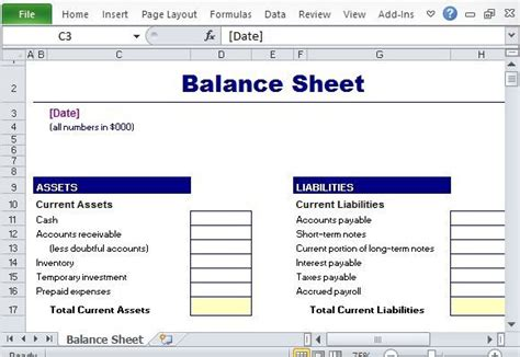 simple balance sheet maker template for excel excel