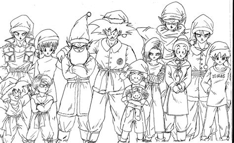 dragon ball z christmas coloring pages dragonball z christmas by rohanite on deviantart