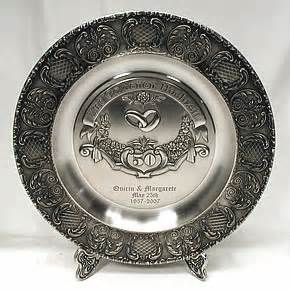 50th anniversary plate engraved 50th wedding anniversary plate