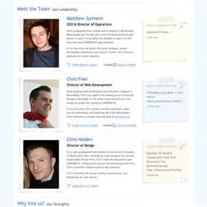 meet the team pages examples and trends smashing magazine