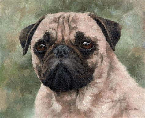 pug painting pug portrait painting painting by stribbling