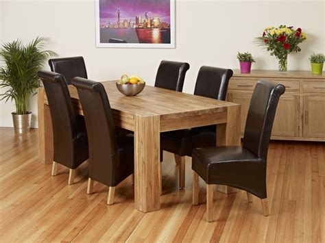 6 dining room chairs oak dining room table and 6 chairs 1379