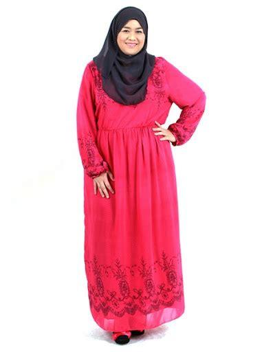 Model Baju Muslim Ukuran Jumbo contoh model gamis wanita jumbo mewah ukuran